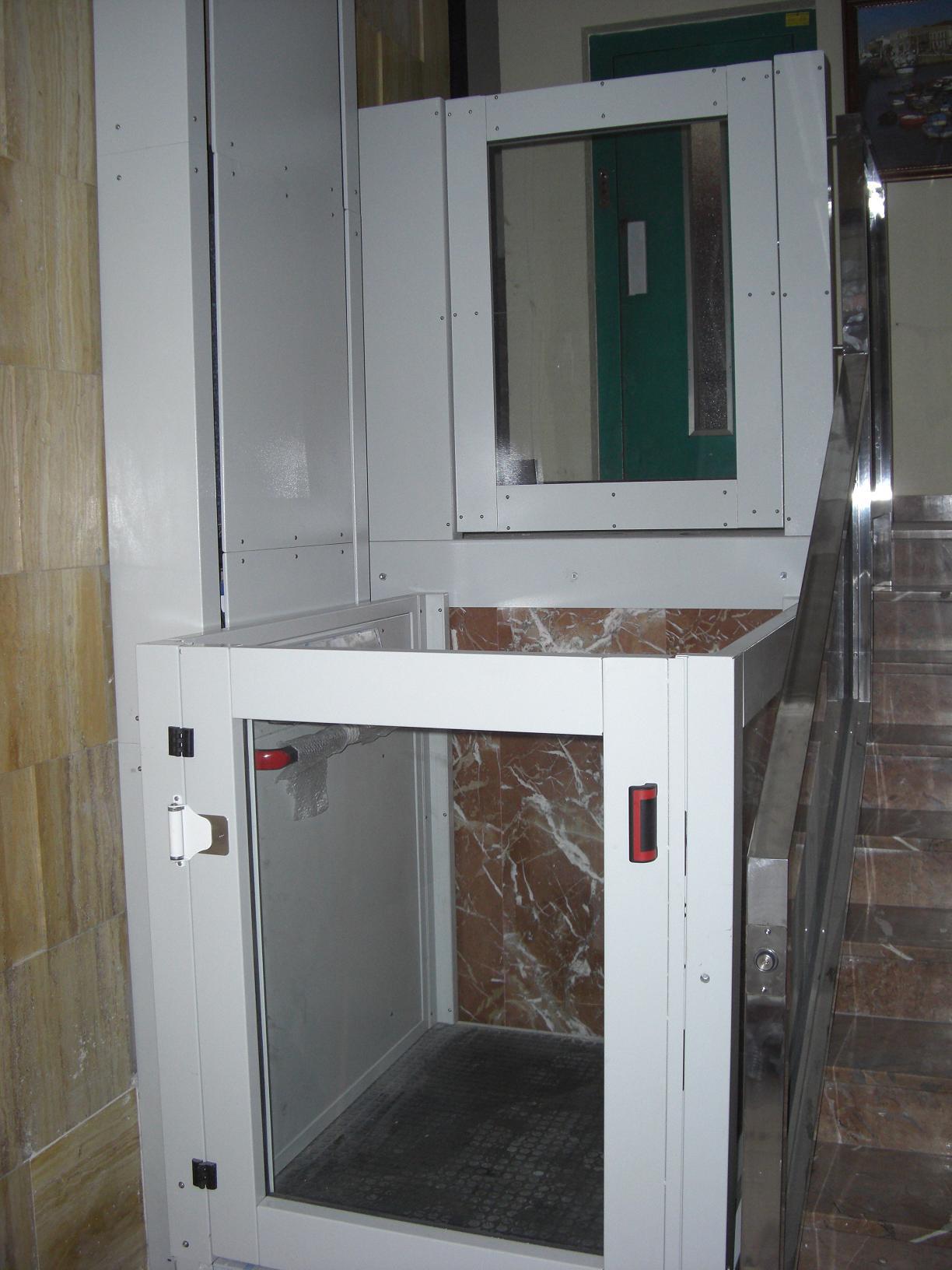 Plataforma vertical salvaescaleras eleser for Salvaescaleras vertical